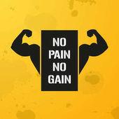 No Pain No Gain, banner, fitness motivation
