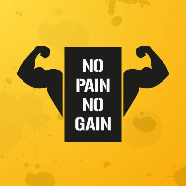 No Pain No Gain, banner, fitness motivation