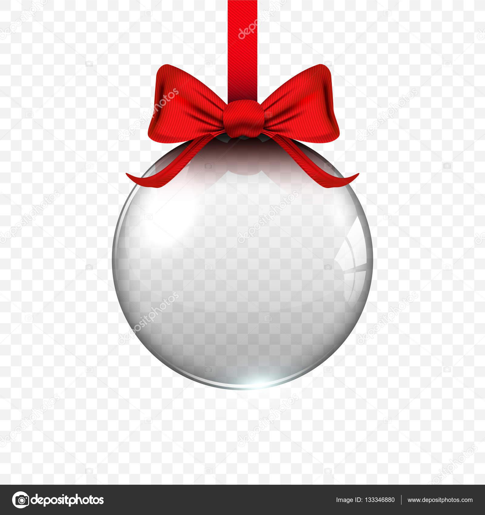 Bola De Navidad Transparente Realista Bola Navidad De Cristal - Bolas-de-navidad-transparentes