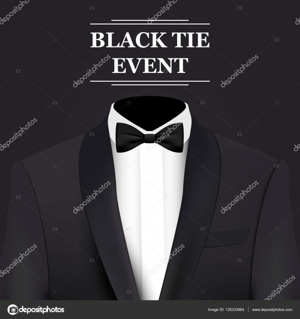 Black tie event invitation card stock vector warlockf01094047 black tie event invitation card vector background vector by warlockf01094047yandex stopboris Images