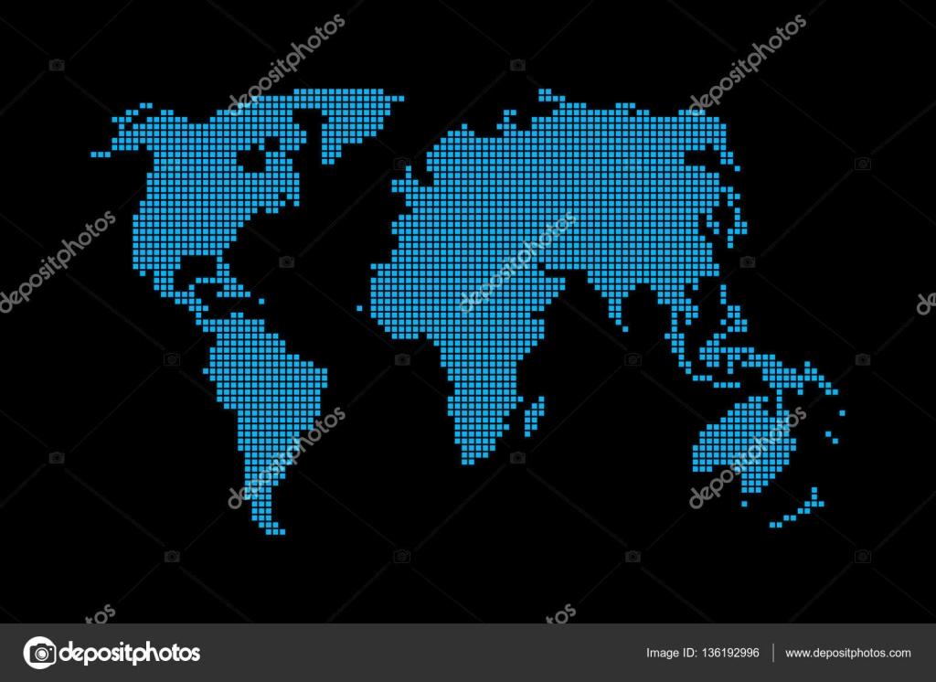 Resumen pxel mapa del mundo fondo negro vector de stock resumen pxel mapa del mundo fondo negro vector de stock gumiabroncs Image collections