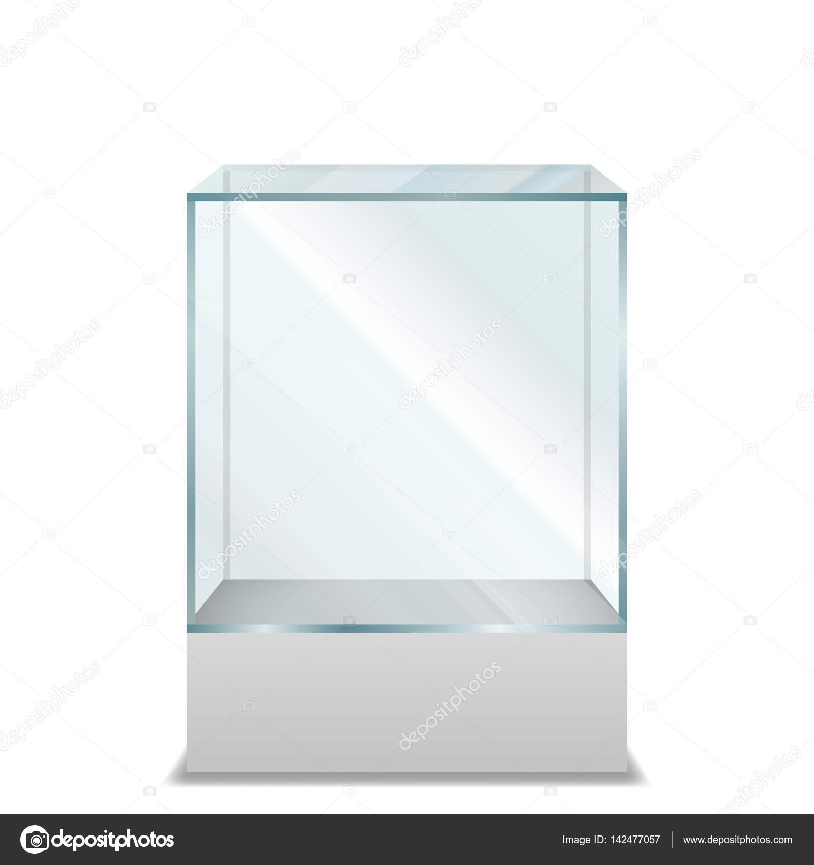 Caja de vidrio transparente vac a sobre pedestal archivo im genes vectoriales - Vidrio plastico transparente precio ...