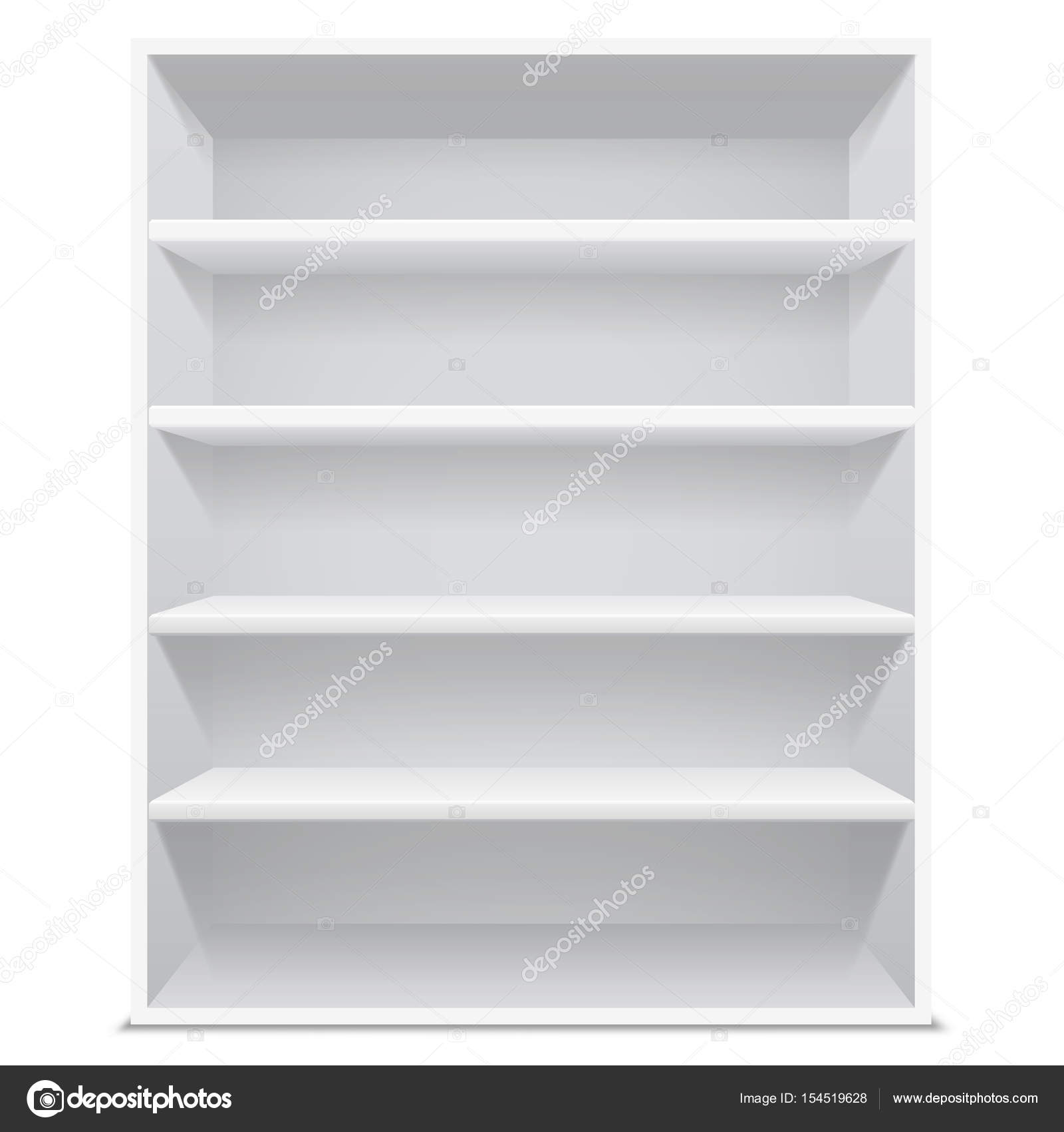 3d vector bookshelf template stock vector warlockf01094047