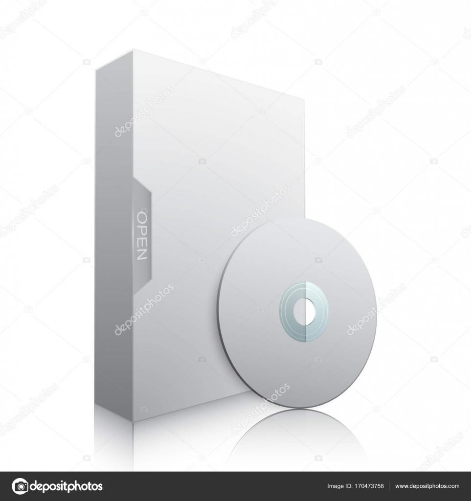 dvd ディスクのソフトウェア パッケージのテンプレート ベクトル