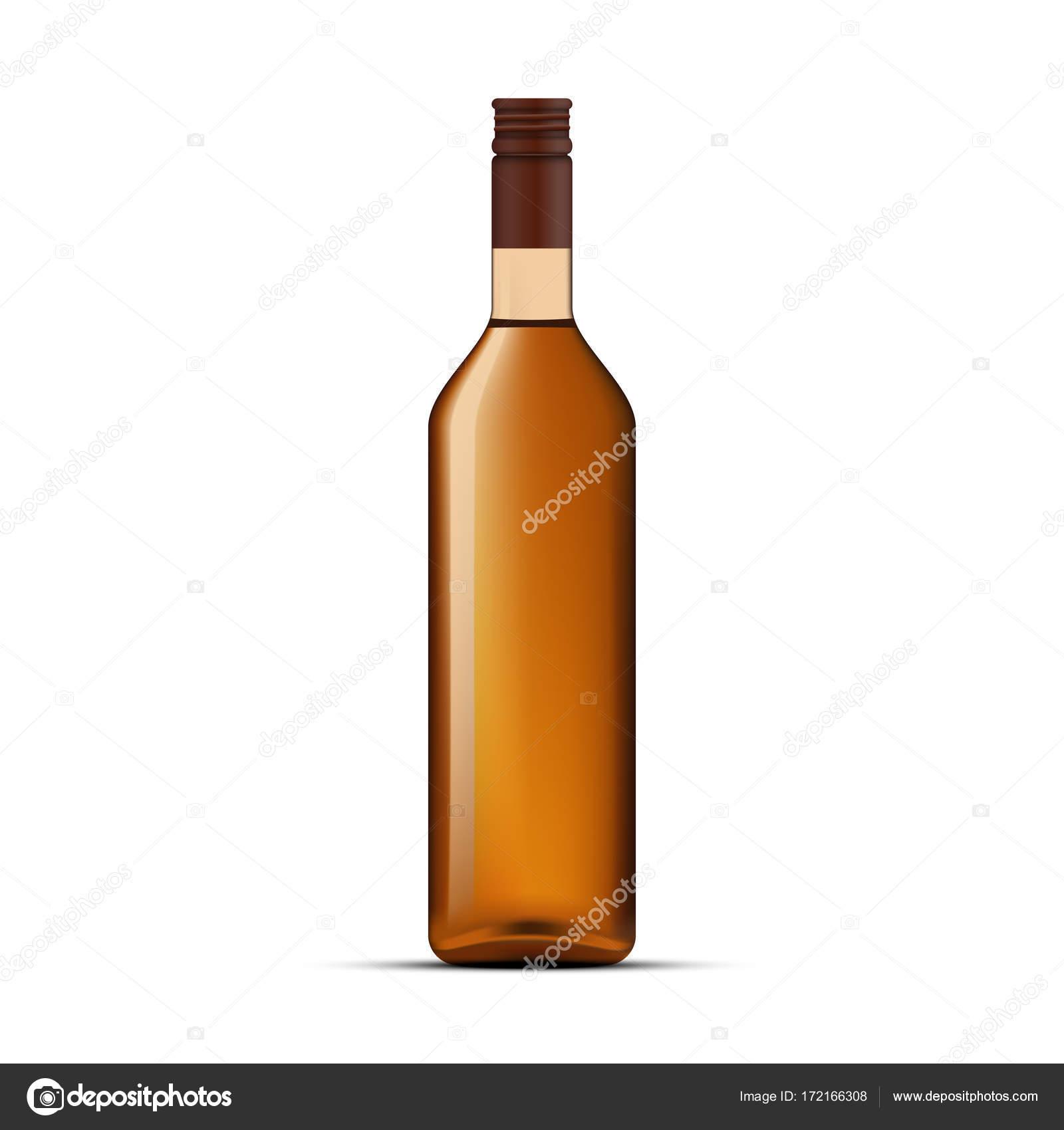 whiskey bottle design vector template stock vector