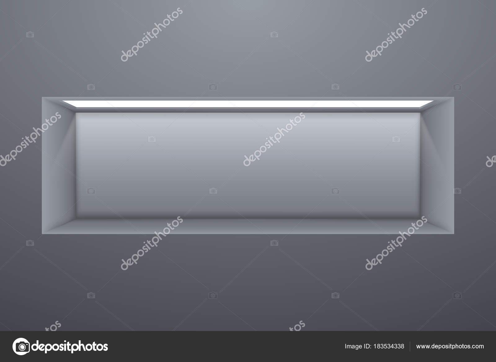Mensola rettangolare con illuminazione all interno dello sfondo