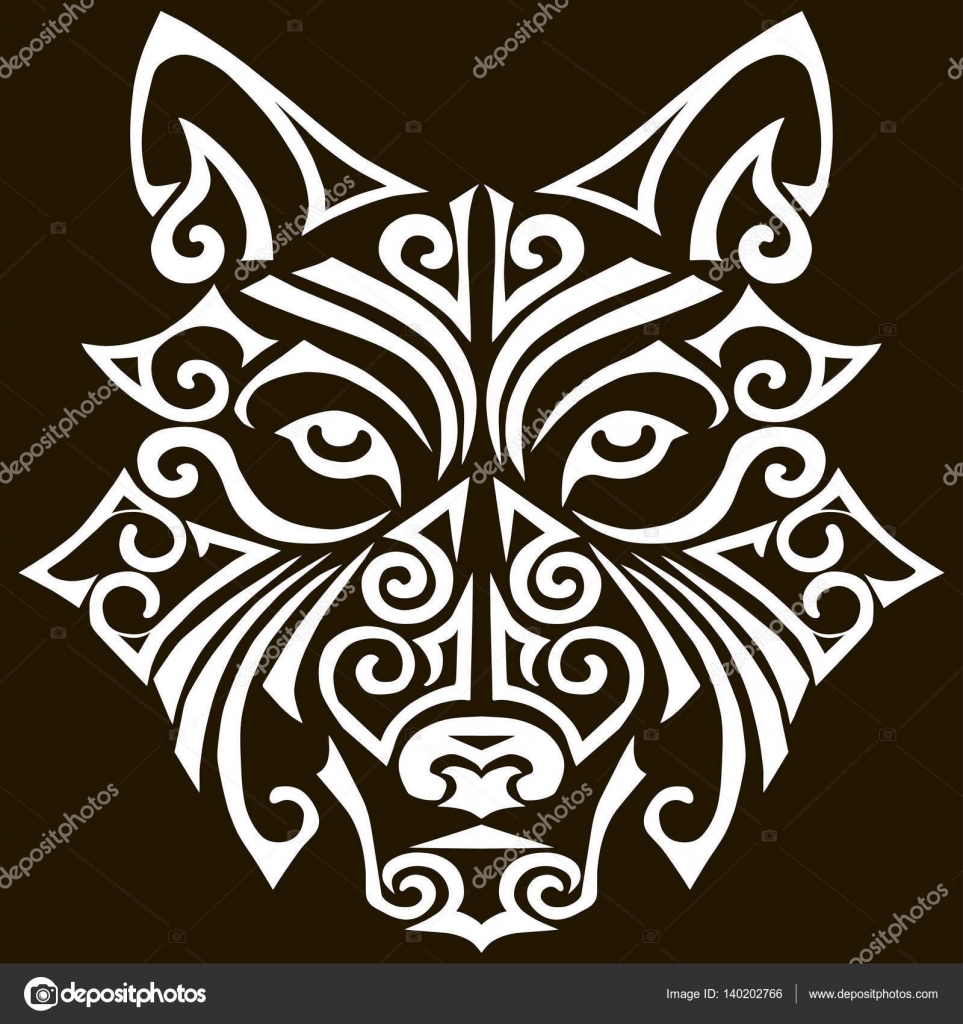 Dibujos Disenos De Tatuajes Maories Para Imprimir Cabeza De Lobo - Dibujos-maoris