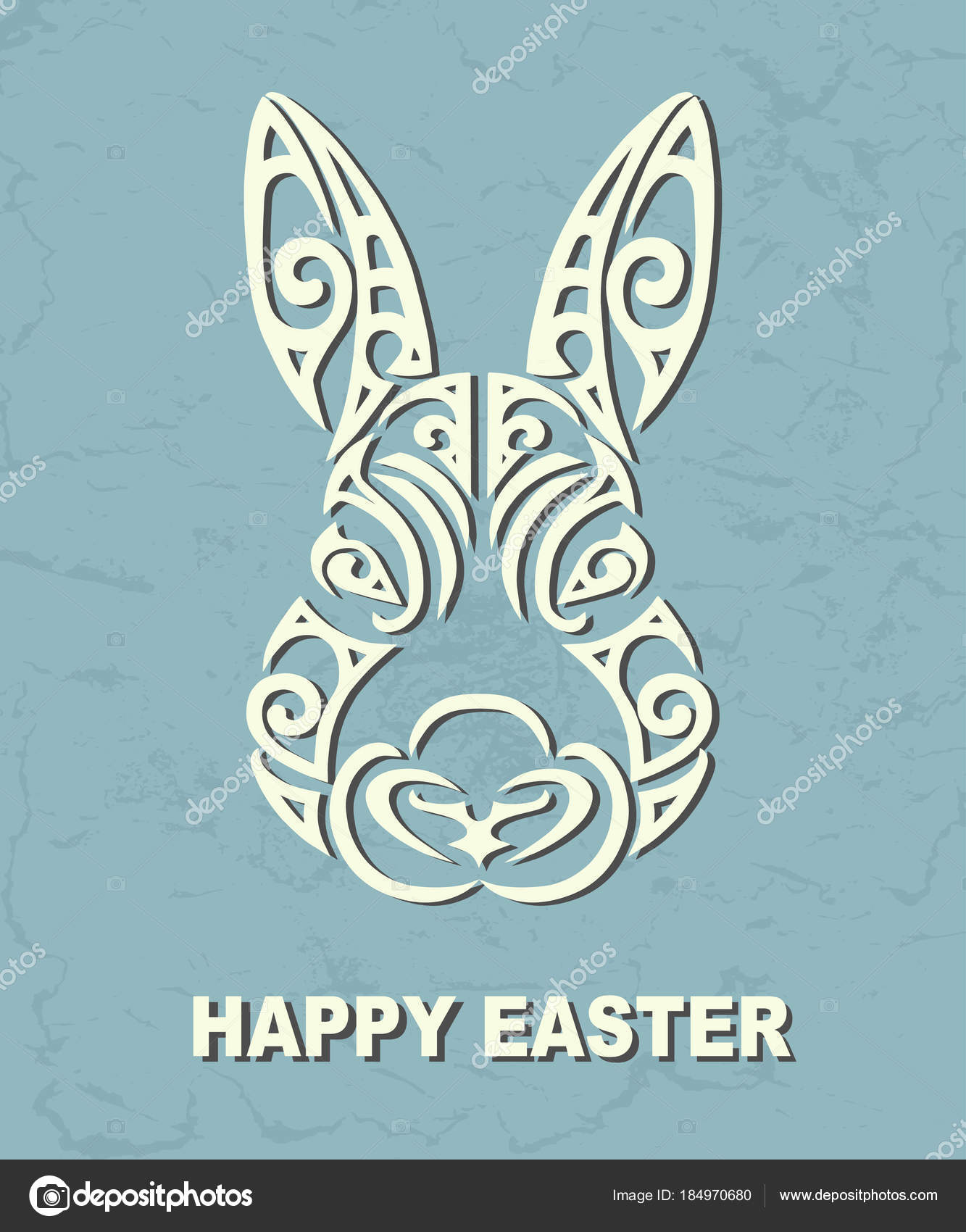 Bunny Head Isolated Texture Background Rabbit Head Easter Logo Pet ...