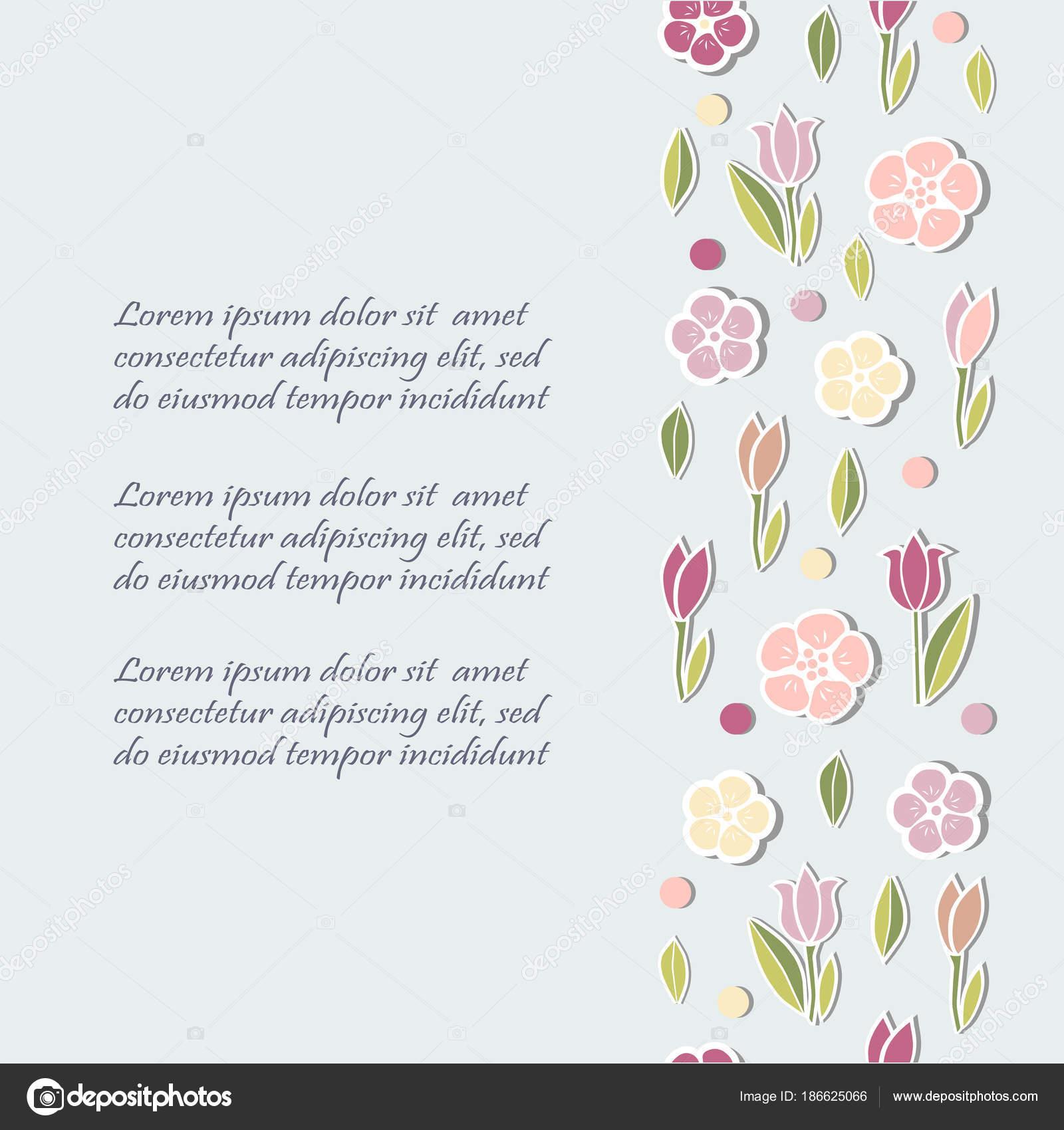 Modelo Com Flores Para Convite Festa Cartão Cartão Postal