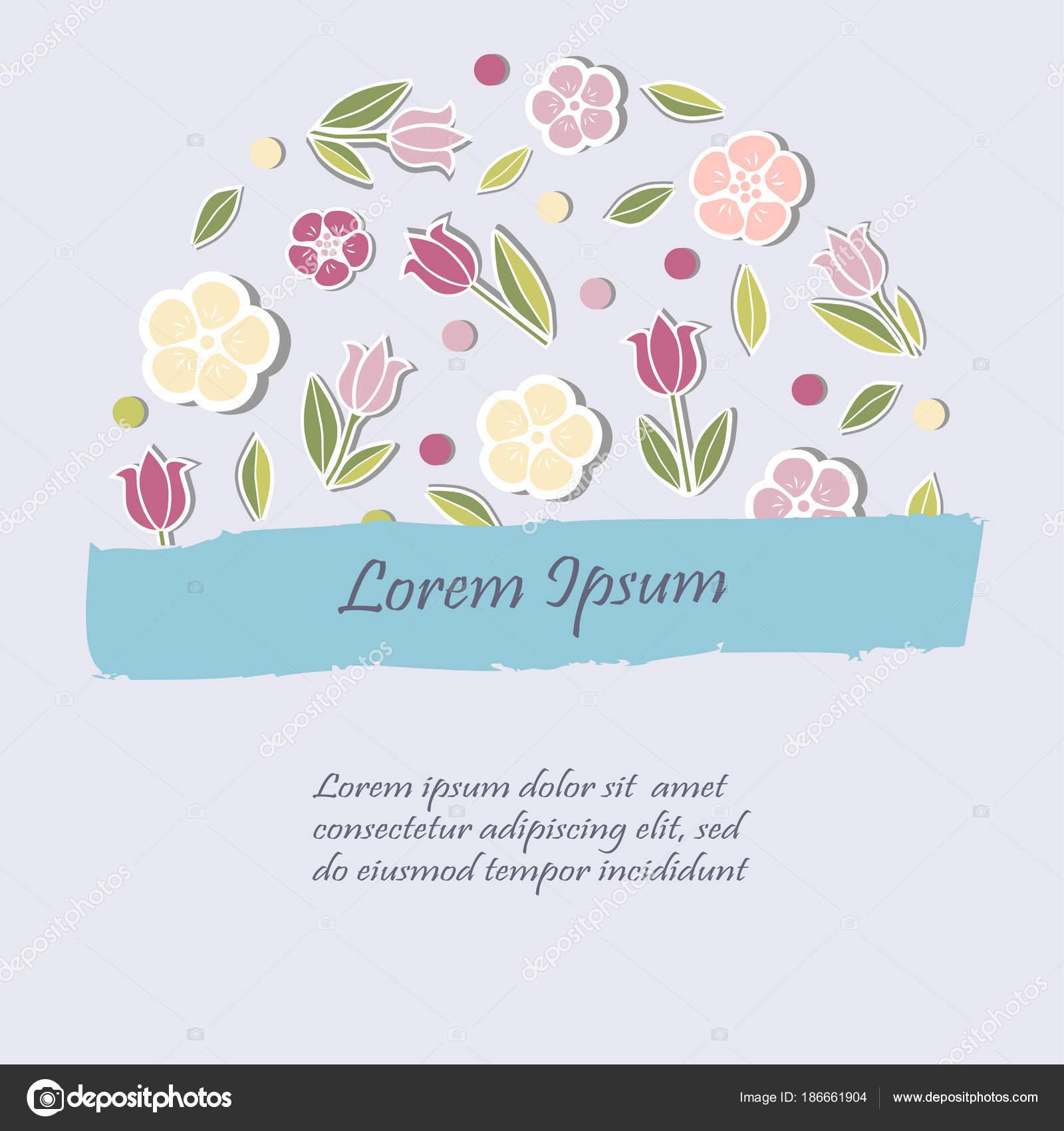 Foto Invitaciones Niña Cumpleaños Plantilla Flores Para