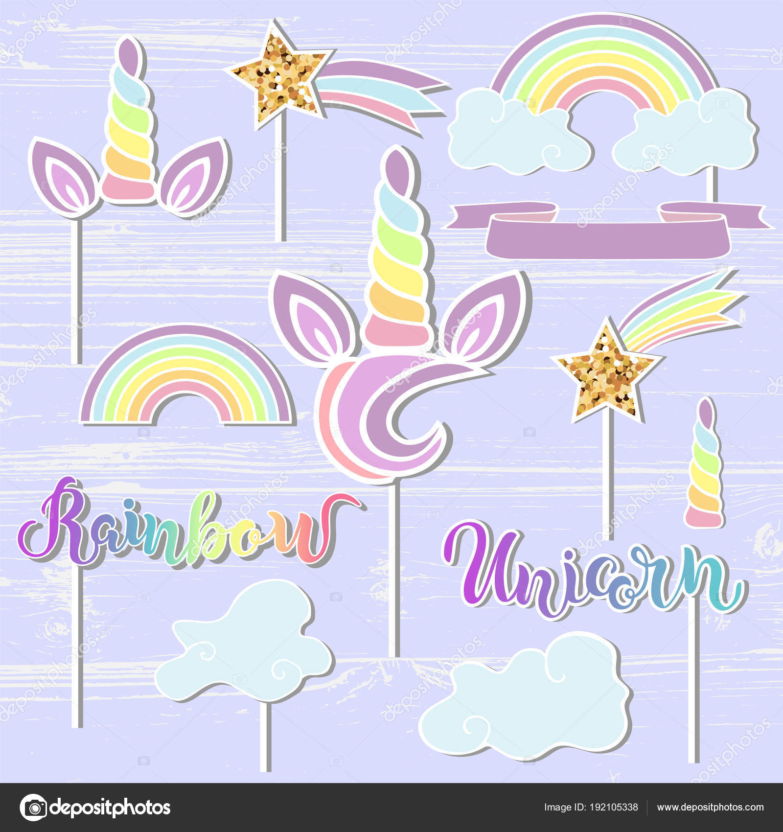 Áˆ Printable Unicorn Cupcake Toppers Stock Images Royalty Free Topper Happy Birthday Vectors Download On Depositphotos