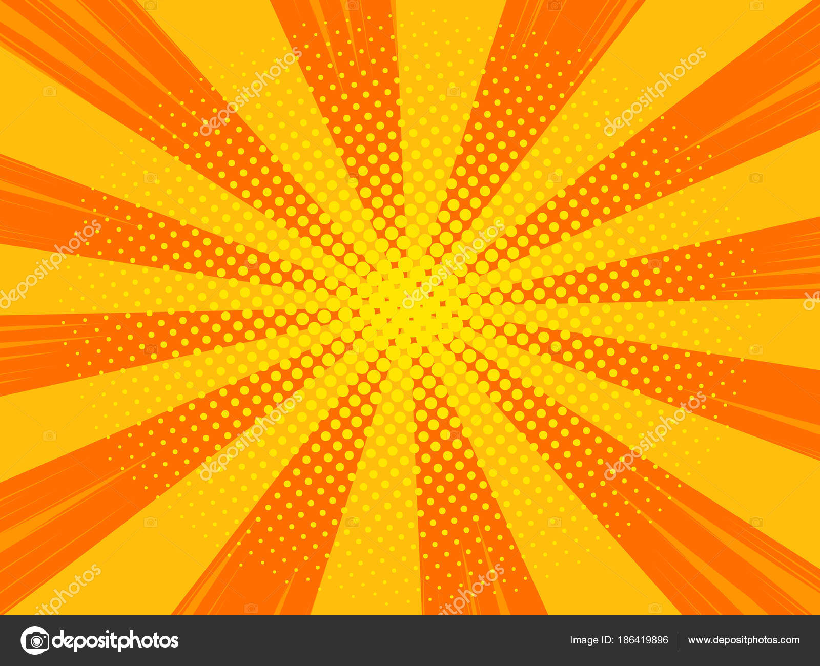 orange comic book poster background halftone pattern texture stock