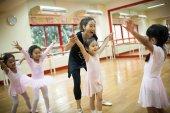 Dívky v základní škole, se kurz klasického tance