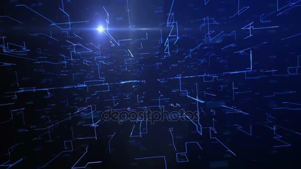 grafické futuristické modré digitální pozadí z řádku a čísel