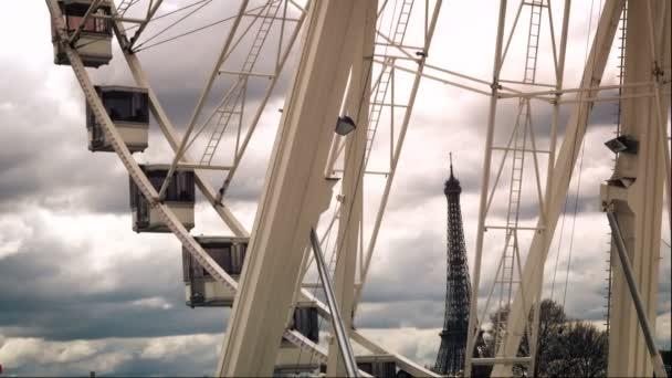 Paris Francia Abril 2018 Noria Instalado Place Concorde Cerca Del