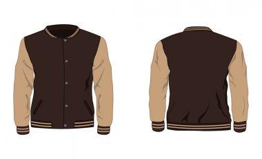 Vector illustration of Sport varsity jacket stock vector