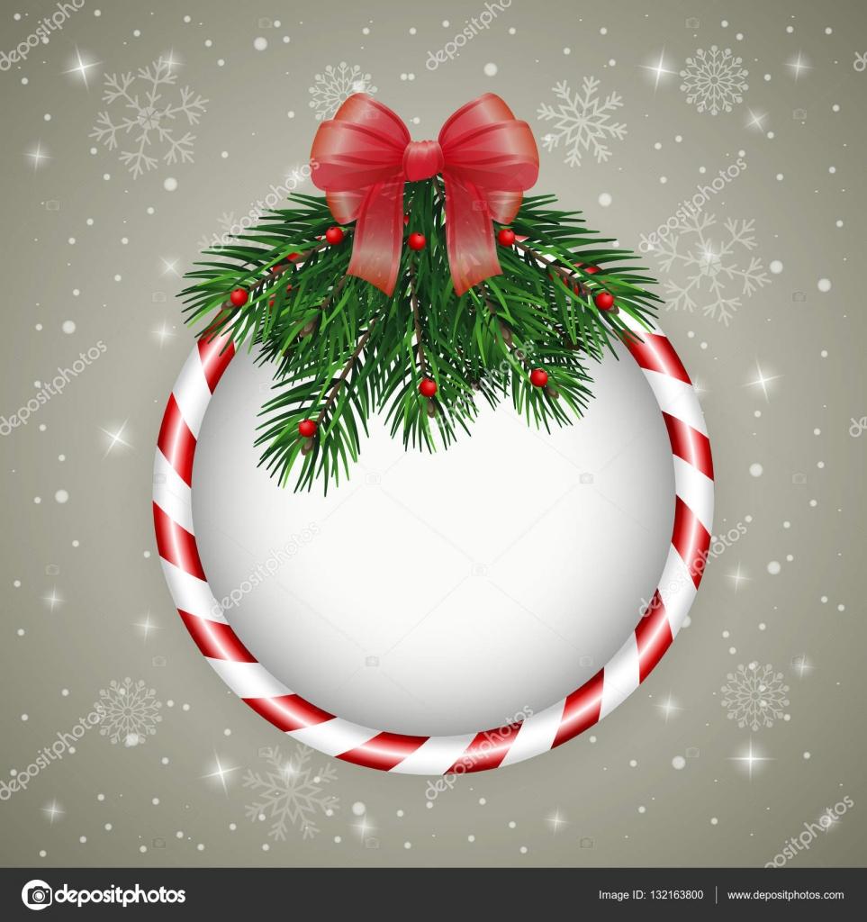 Auguri Di Natale Yahoo.Cartolina D Auguri Di Natale Con La Corona Di Natale Vettoriali