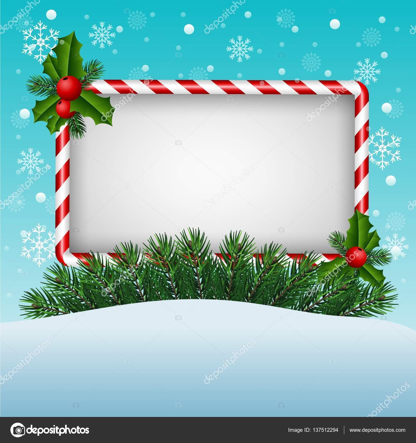 Auguri Di Natale Yahoo.Cartolina D Auguri Di Natale Con Caramelle E Segno In Bianco