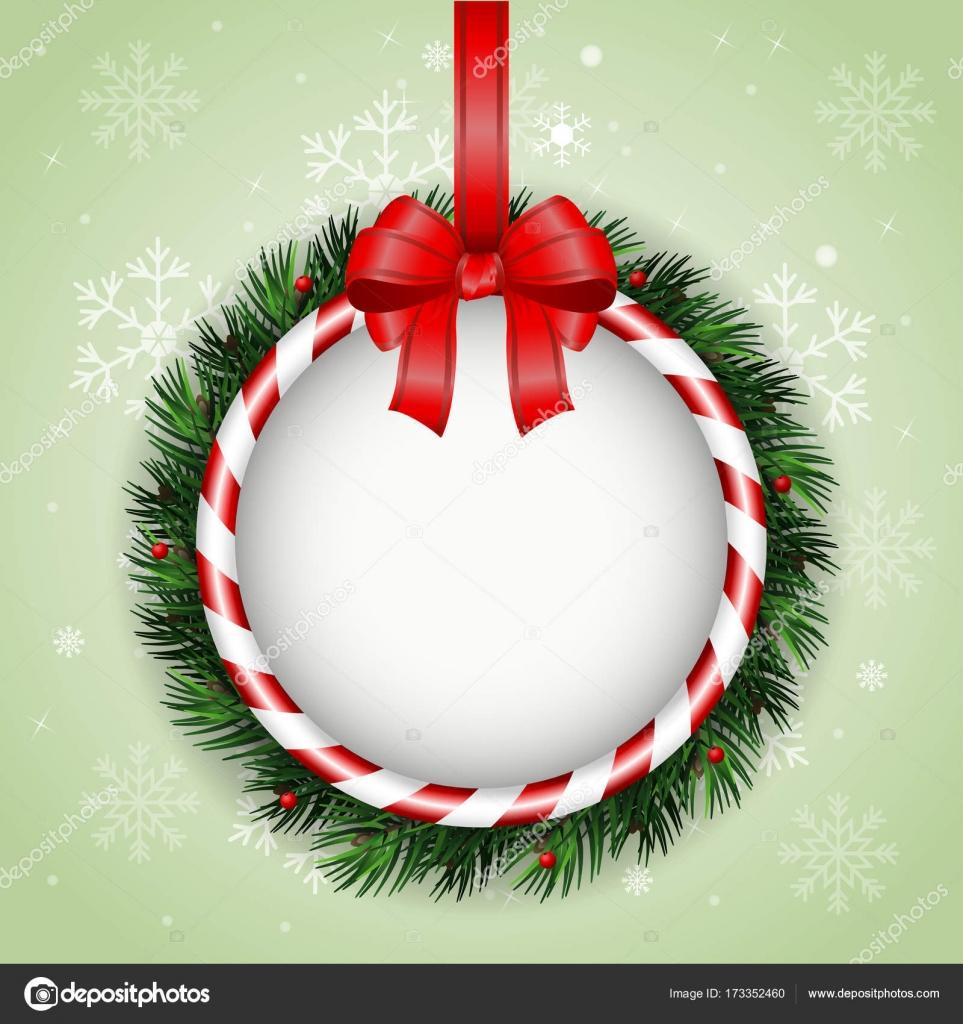 Auguri Di Natale Yahoo.Cartolina D Auguri Di Natale Con La Ghirlanda Di Natale E Nastro
