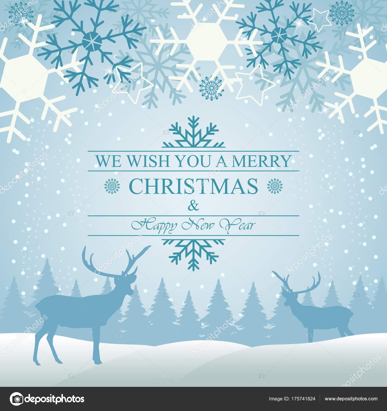 Carte De Noel Yahoo.Illustration Vectorielle Carte Voeux Noël Avec Flocon Neige