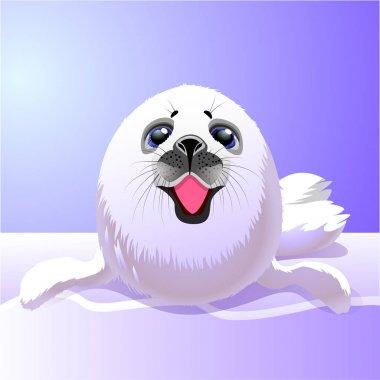 Baby fur seal.Vector