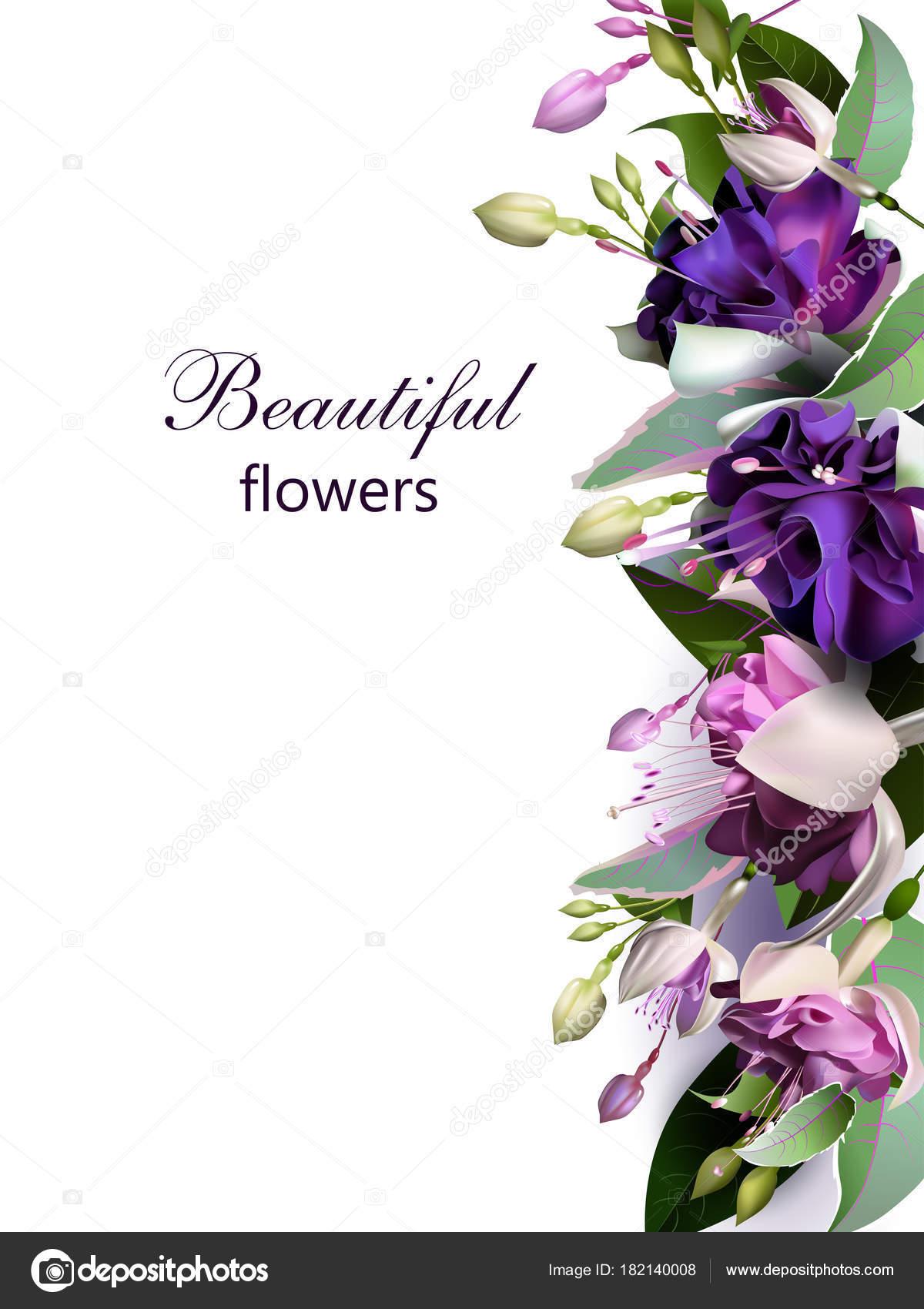 Wedding Greetings Wishes Greeting Card Flower Arrangement Stock