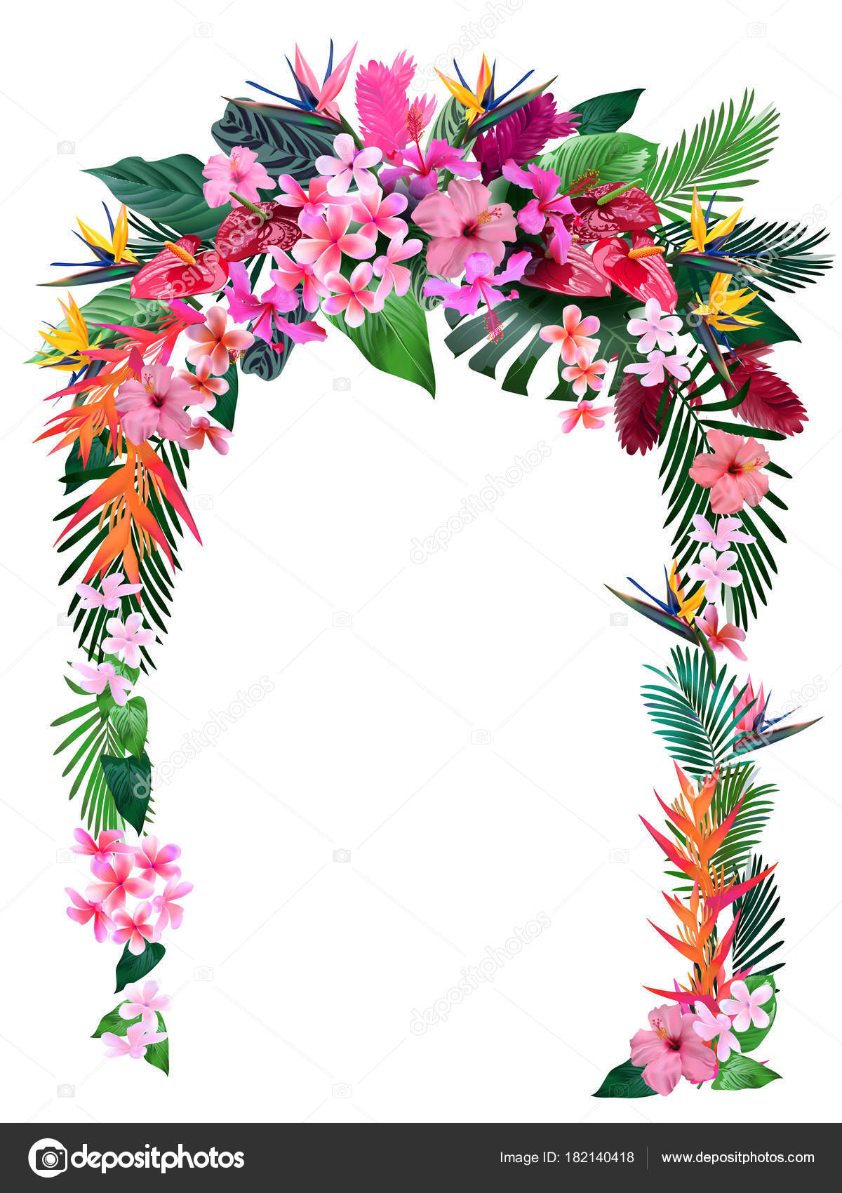 Wedding arch tropical flowers design wedding greetings wedding wedding arch tropical flowers design wedding greetings wedding invitations stock vector m4hsunfo Choice Image