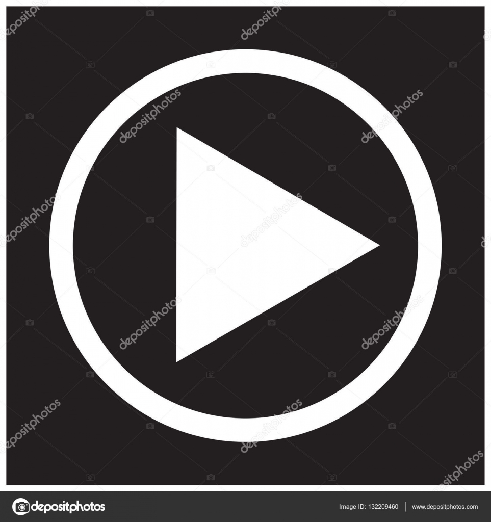 Play Button Icon In Trendy Flat Style Play Symbol For Your Web Site