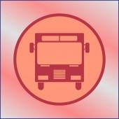 Autobus ikona vektor, solidní logo ilustrace
