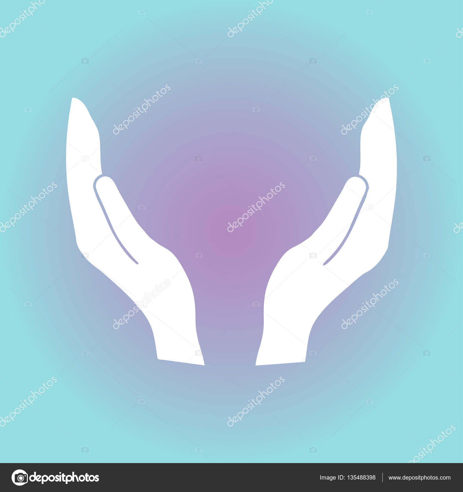 supporting hands vector illustration stock vector chack rick