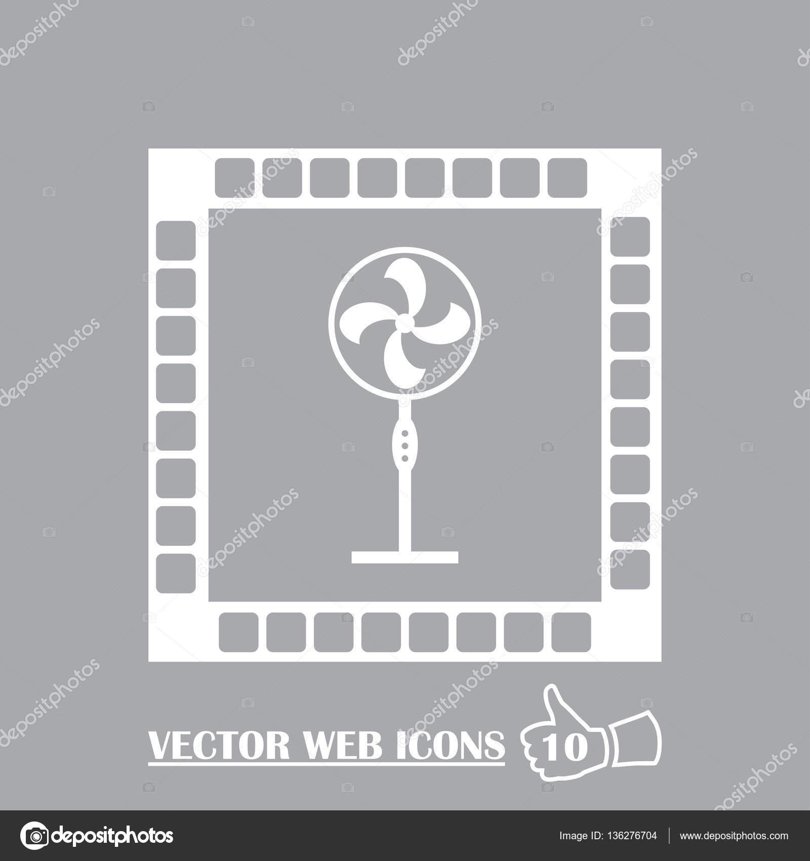 Exhaust Fan Icon Ventilator Symbol Stock Vector C Chack Rick