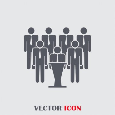 People Icon in trendy flat style. Crowd sign. Persons symbol for your web site design, logo, app, UI. Vector illustration