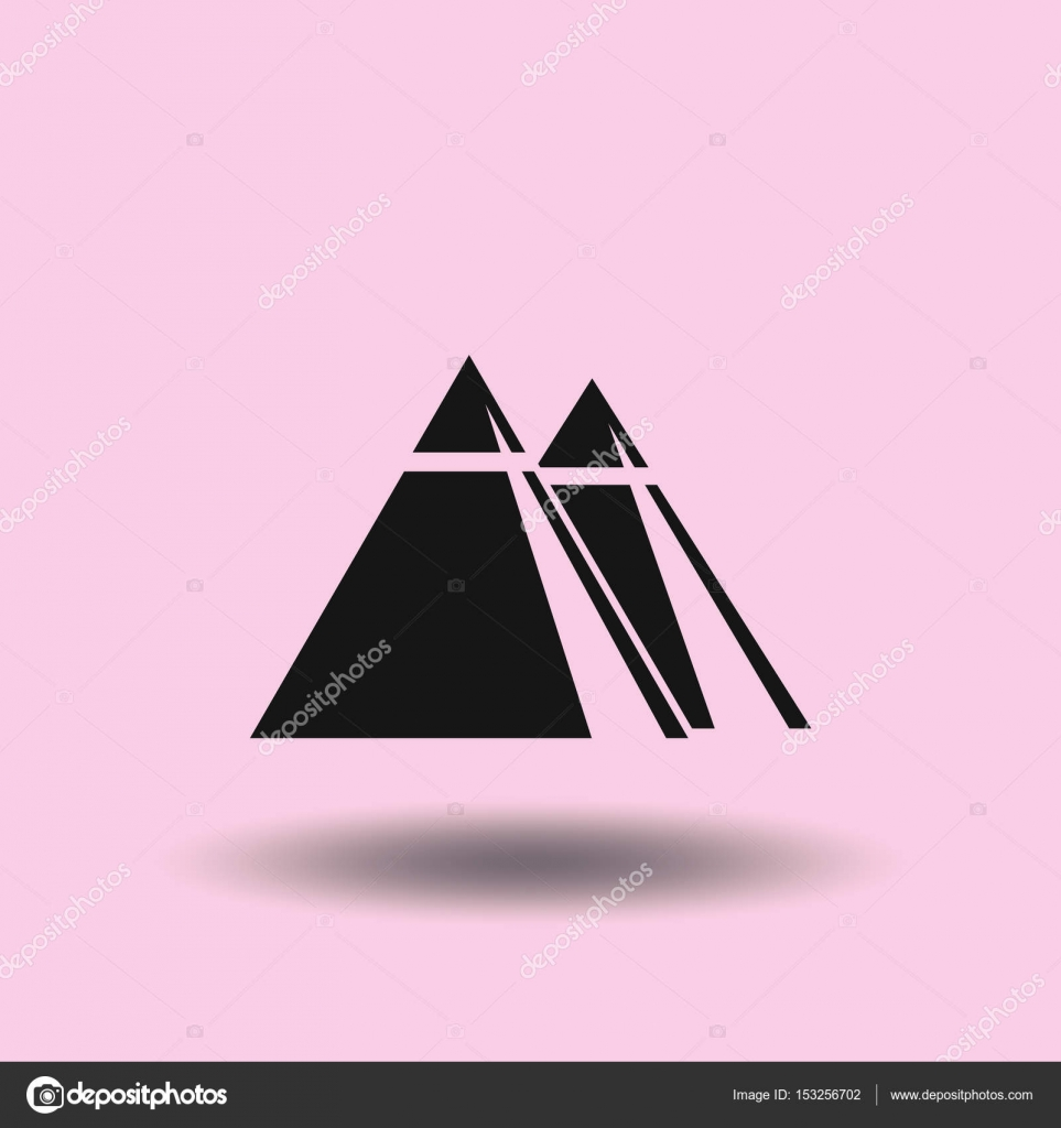 All Seeing Eye Pyramid Symbol New World Order Stock Vector