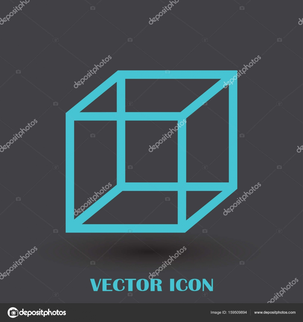Isometric Cube Vector Icon 3d Square Sign Box Symbol Stock