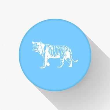 Tribal tiger jump vector icon