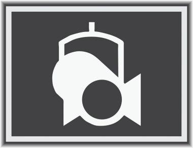 Spotlight vector web icon.