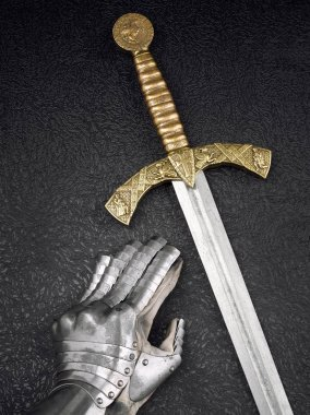 A beautiful ancient sword of the Order of the Knights Templar an