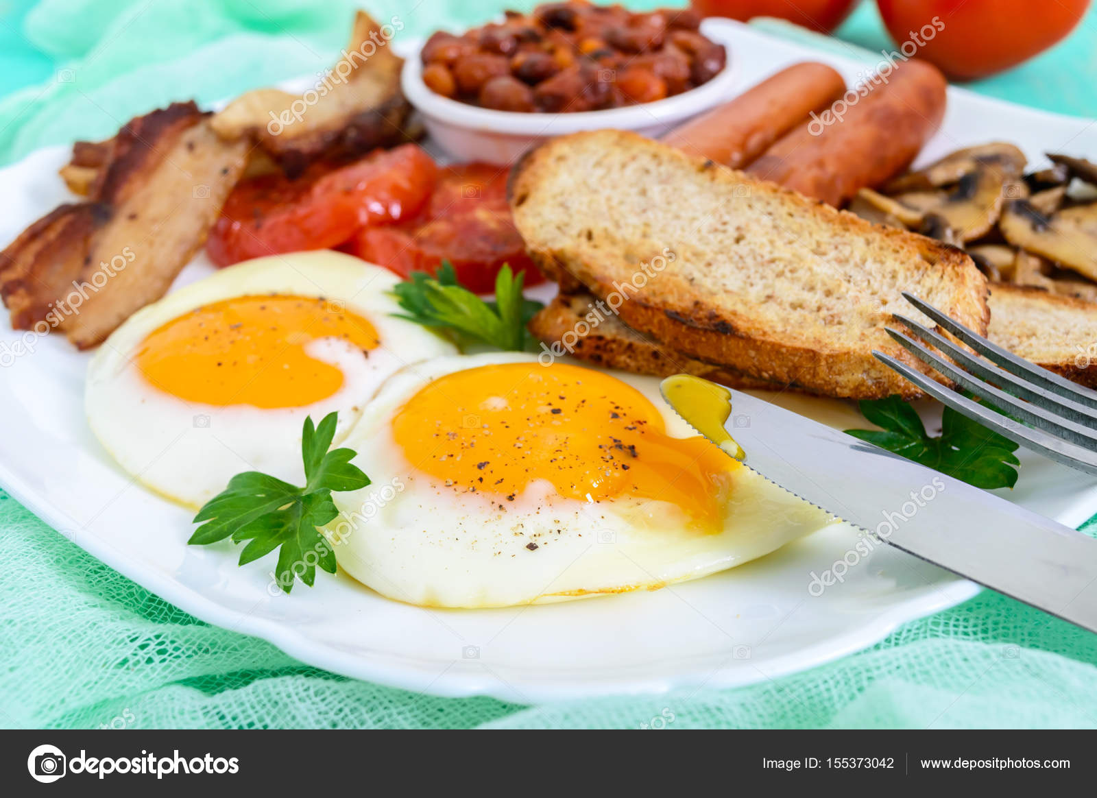 colazione tradizionale inglese — Foto Stock © iaroshenko.marina ...