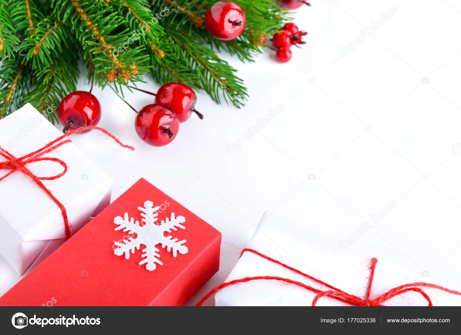 Christmas New Year Theme Celebratory Background Gift Boxes Green ...