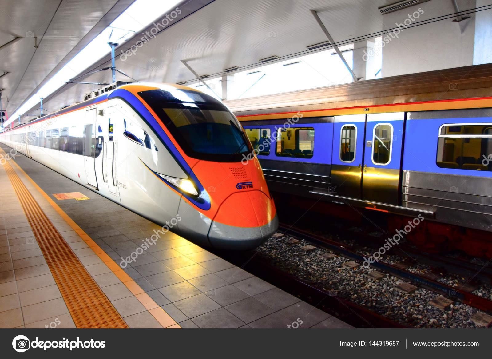 ets train inter city rail service in malaysia stock editorial
