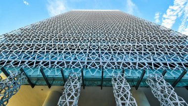 Modern office building architecture in Putrajaya, Malaysia. the photo was taken 15/05/2017