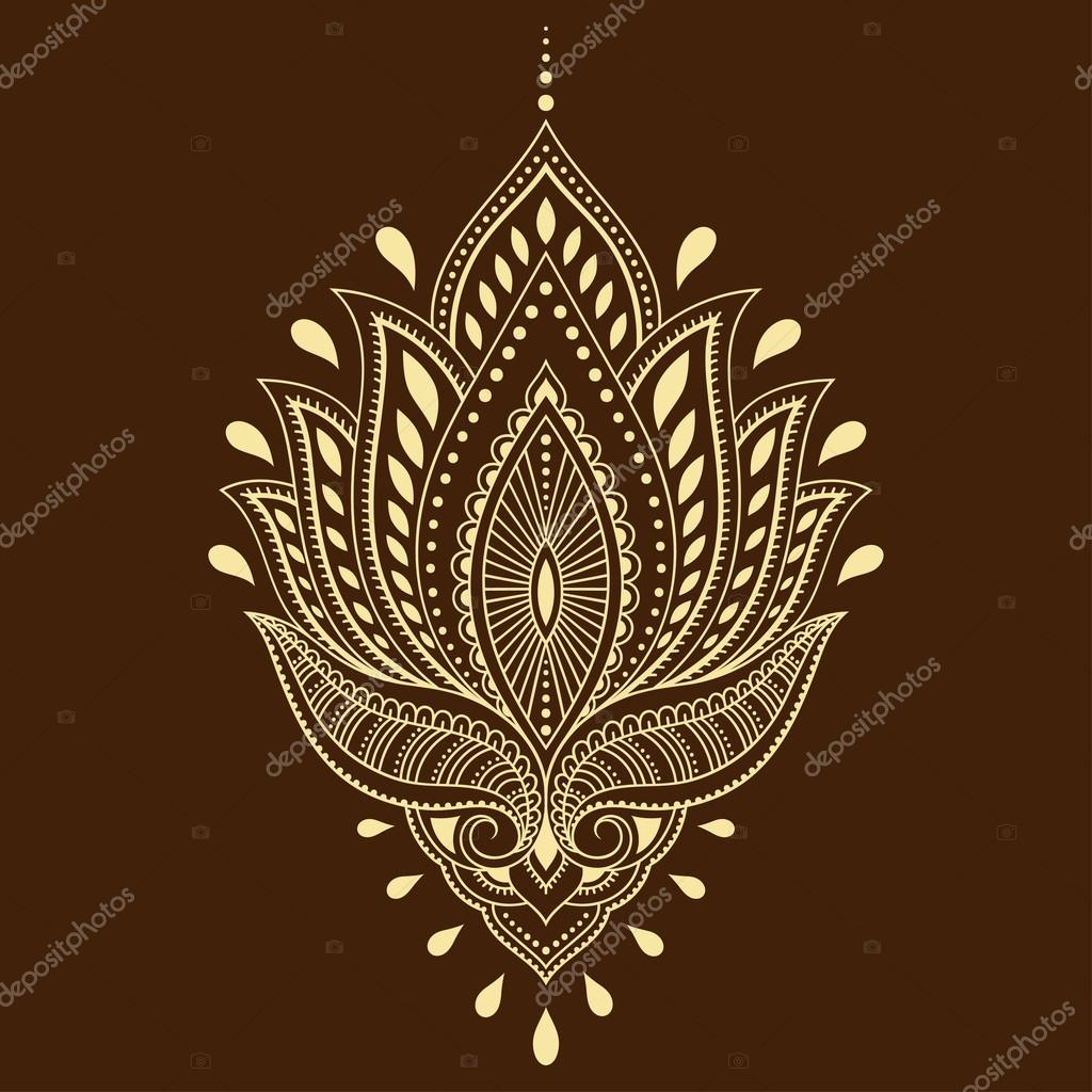 Mehndi Lotus Flower Tattoo Flowers Healthy