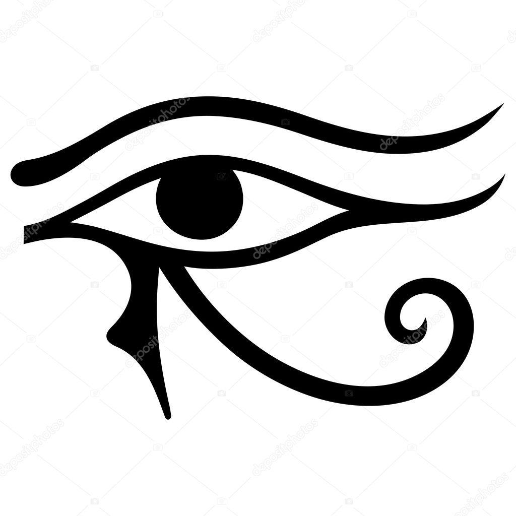 The Ancient Symbol Eye Of Horus Egyptian Moon Sign Left Eye Of