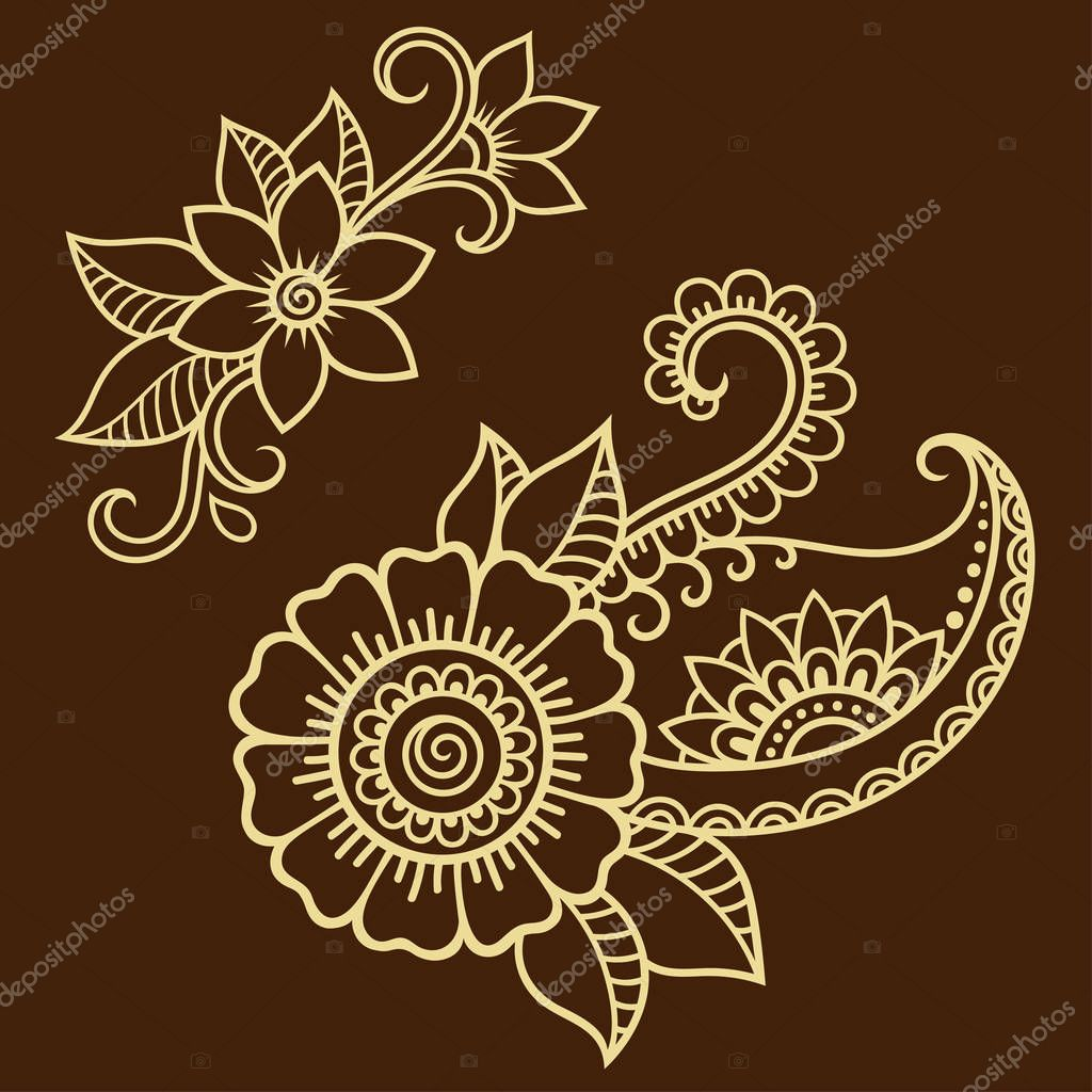 Hennafest s vir g sablon mehndi st lus a keleti st lus d sz t mint k sszess ge stock - Modele de henna ...