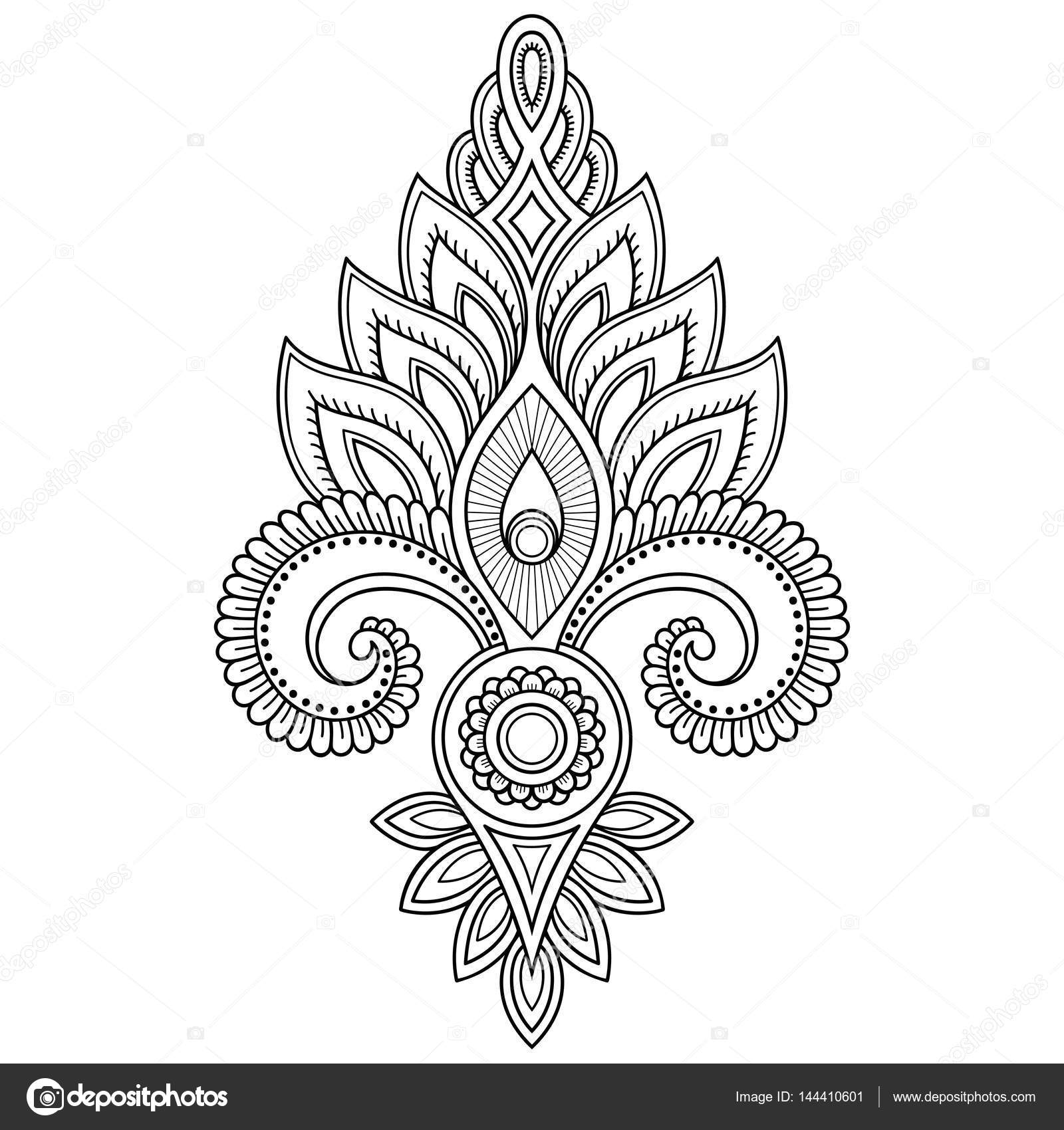 photo about Henna Templates Printable referred to as Henna tattoo printable stencils Henna tattoo flower