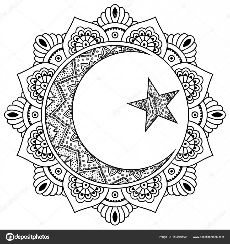 Mandala Islámico Un Patrón Circular En Forma De Un Mandala