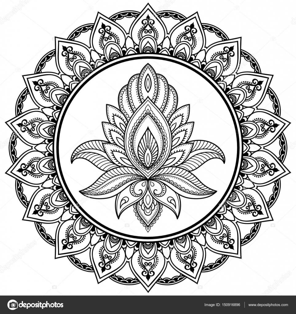 ein kreisf rmiges muster in form eines mandalas henna. Black Bedroom Furniture Sets. Home Design Ideas