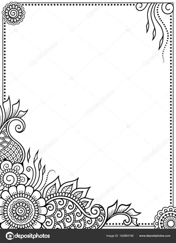 Estilizado con el patrón decorativo de tatuajes de henna para ...