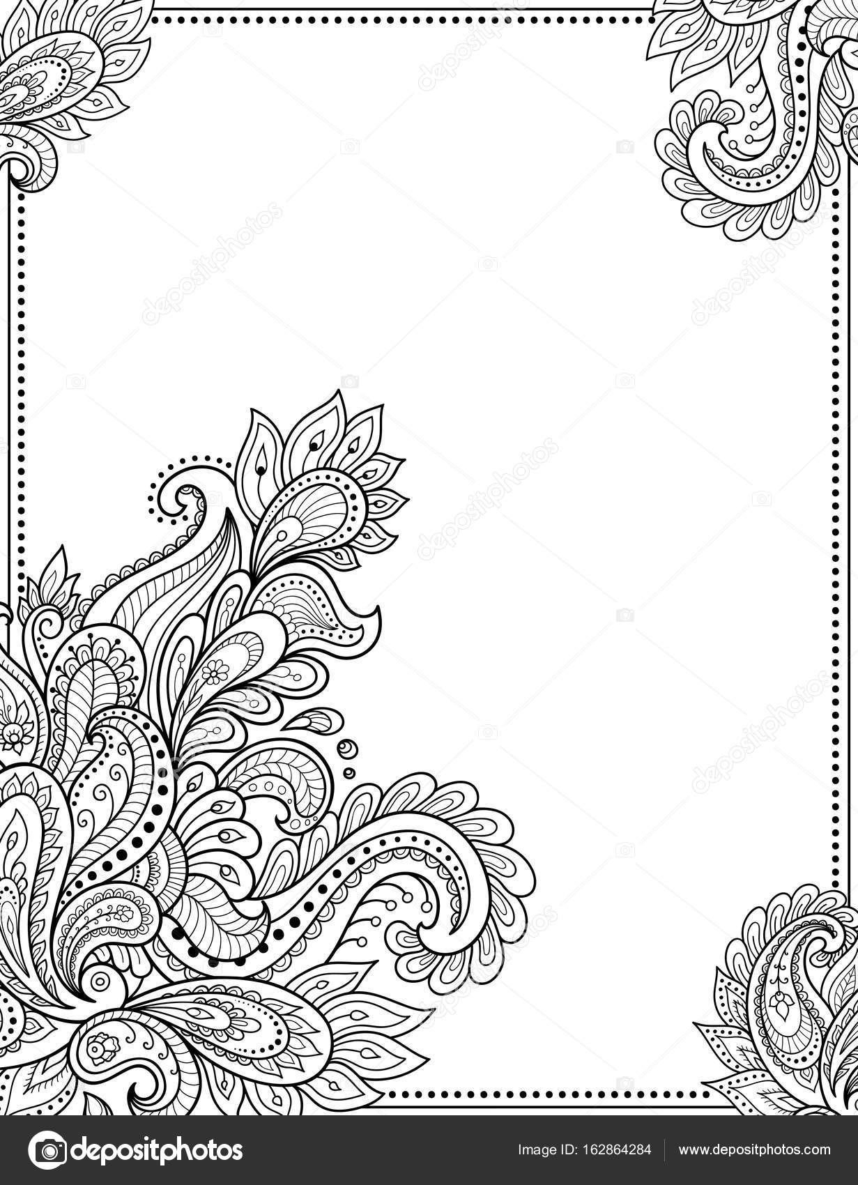 stylized with henna tattoos decorative pattern for decorating covers