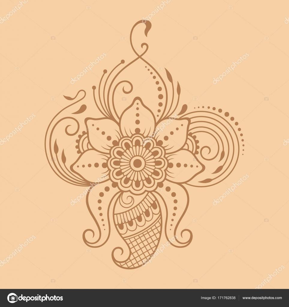 Henna tattoo flower template indian style ethnic floral paisley henna tattoo flower template indian style ethnic floral paisley lotus stock vector izmirmasajfo